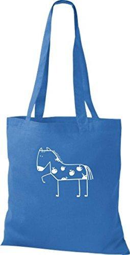 ShirtInStyle Bolsa de tela Bolsa de algodón Divertida Animales Caballo Pony - fucsia, 38 cm x 42 cm, 38 cm x 42 cm Royal