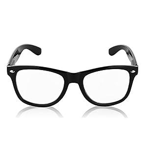 Wayfarer Black Glasses for Men and Women Clear Lens Sunglasses