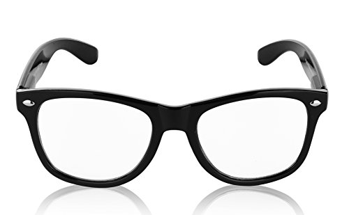 Wayfarer Black Glasses for Men and Women Clear Lens - Glases Geek