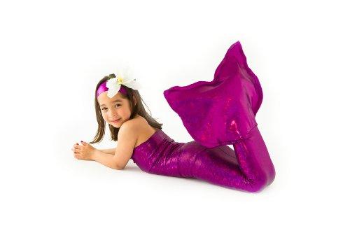 Mermaid Tail Costume- One Piece By Applejack Apparel (Large 8-10, Pink) (Pink Mermaid Costume)