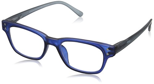 Peepers Style Two 334225 Wayfarer Readers, Gray/Navy, 2.25