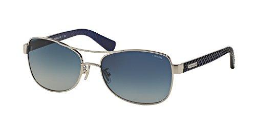 COACH Women's 0HC7054 Silver/Navy/Blue Gradient - Coach Usa Sunglasses