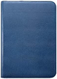 nobrand Conference Folder Padfolio Folio Case Multifunktionale Ordnungsmappe mit Reißverschluss Geschäftstasche Dokumententasche für Business Schule Meeting 36.5X26cm blau