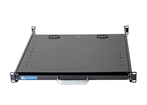 1U Compact rack mount keyboard drawer with retractable mouse pad for right or left hand operator supports 2 post and 4 post rack cabinet by IAENCLOSURES (Image #4)