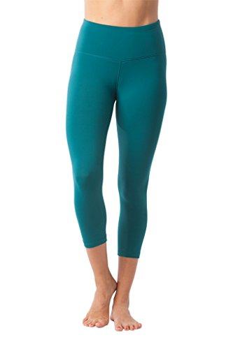 Light Pink Curve - 90 Degree By Reflex – High Waist Tummy Control Shapewear – Power Flex Capri- Everglade - Small