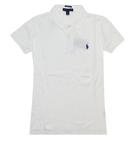 Polo Women T-shirts - Ralph Lauren Skinny Fit Women Logo Polo T-shirt (Small, White)