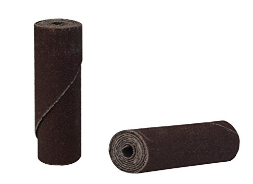 25/Pk 1-1/2'' x 1/2'' Fine 180 Grit Aluminum Oxide Cartridge Rolls Jewelry Making Metal Polishing Abrasives