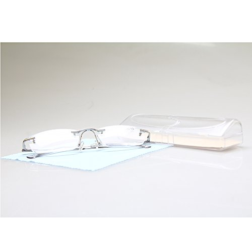 TOPSTARONLINE Unisex Rimless Frameless Reading Glasses w/ Ca