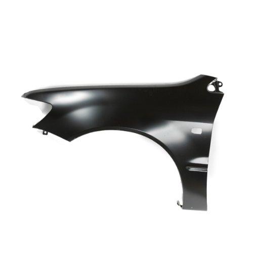 (CarPartsDepot, Black Primered Steel Driver Side Front Fender Assembly Replacement Left L/H, 371-35991-01 MI1240151 MR555075)