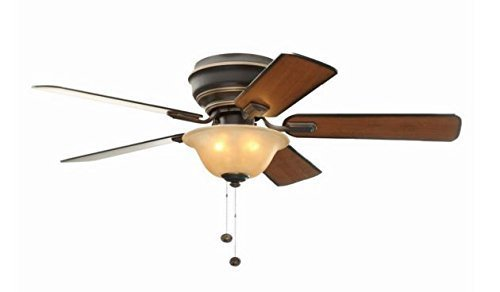 Hampton Bay Hawkins 44 in. Tarnished Bronze Ceiling Fan by Hampton Bay