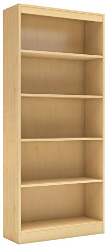 Desk Maple Country (South Shore 5-Shelf Storage Bookcase, Natural Maple)
