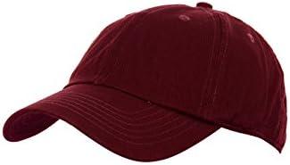 Nyfashion101 (TM) Unisex Adjustable 6-Pannel Low-Profile Baseball Cap LOW100-Burgundy