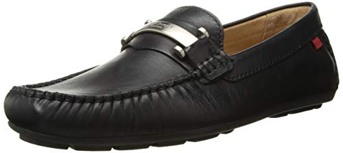Marc Joseph New York Mens Genuine Leather Made in Brazil Bryant Park Driver Driving Style Loafer black nappa 9.5 M - Mens Style Leather