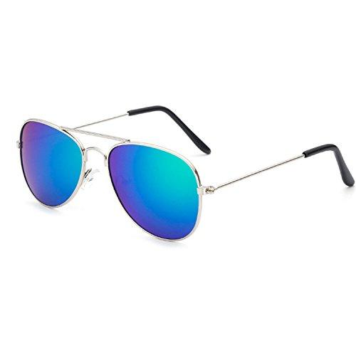 DUJUANNIAO Fashion Kids Sunglasses Aviation Children Sun Glasses Pilot 100%UV Protection Oculos De Sol C10