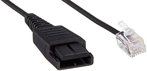 Jabra GN1216 SmartCord – Straight Headset Cable for Avaya Deskphones