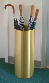 Umbrella Stand Standard Size with Satin Brass Finish