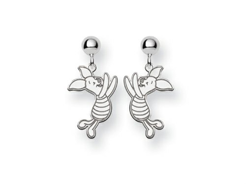 - Disney Piglet Dangle Post Earrings Sterling Silver