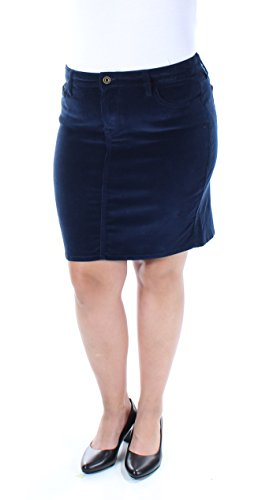 Tommy Hilfiger Womens Corduroy Ribbed Mini Skirt Navy - Women Hilfiger Tommy Sale