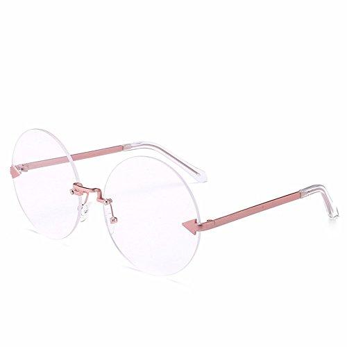 de Bastidor de Pieza Cerco Gafas Sol Redondas sin Sol Transparente Hoja Personalizada polvo océano Flecha de Gafas transparente Intellectuality Gafas de Negro hoja de Marco q5Ex7BHwEz
