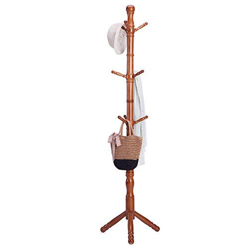 Floor Standing Hat and Coat Coat Rack Floor Home Bag Rack Single Pole Hanging Clothes Rack,179cm50cm (Color : Chocolate)