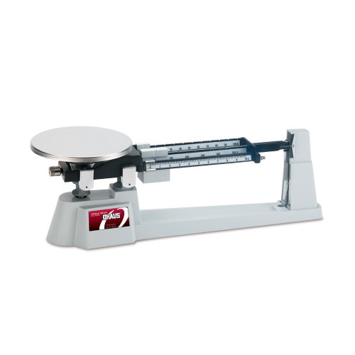 Ohaus Specialty Mechanical Triple Beam Balance, with Stainless Steel Plate, 610g Capacity, 0.1g - Balance Scale Spring