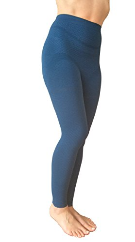 Denim Energie Pants (Bioflect® FAR Infrared Therapy Micromassage Compression Leggings for Lymphedema & Lipedema Support (S/M Denim))