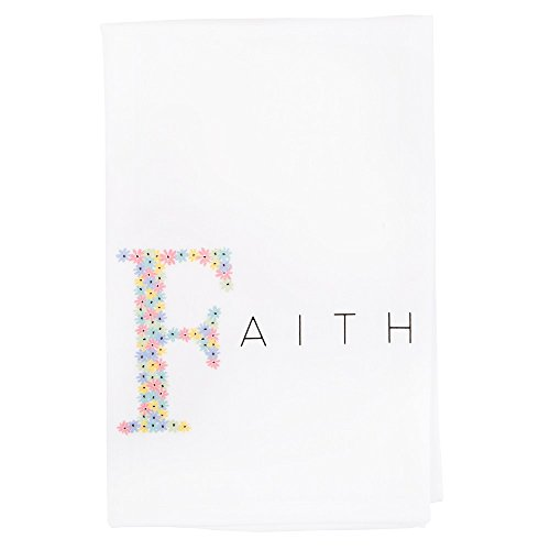 Message Brands God Notes Floral Faith Flour Sack Dish Towel 28 x 29 inches 100% Cotton by Message Brands