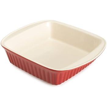 Good Cook 04409, Red 2 Quart Square Ceramic Dish