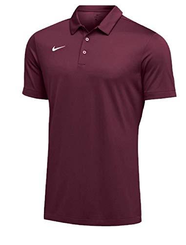 Nike Mens Dri-FIT Short Sleeve Polo Shirt (Medium, Maroon) by Nike (Image #1)