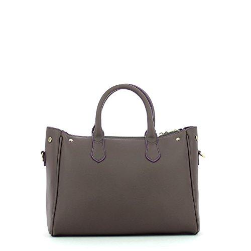 Ecoleather a 30 cm Trussardi Jeans Borsa Brown Blondie Stud mano Tote Bag Medium w6gE8qvg