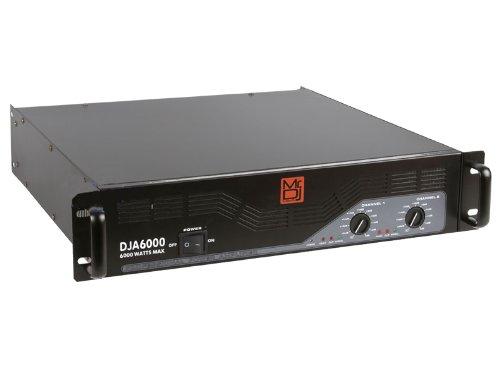 Mr. Dj DJA-6000 Professional Stereo 6000W Max Power Pro Audio 2-Channel Bridgeable Amplifier