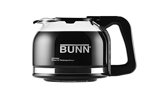 Bunn Glass Decanter - BUNN Pour-O-Matic 10-Cup Drip Free Carafe, Black