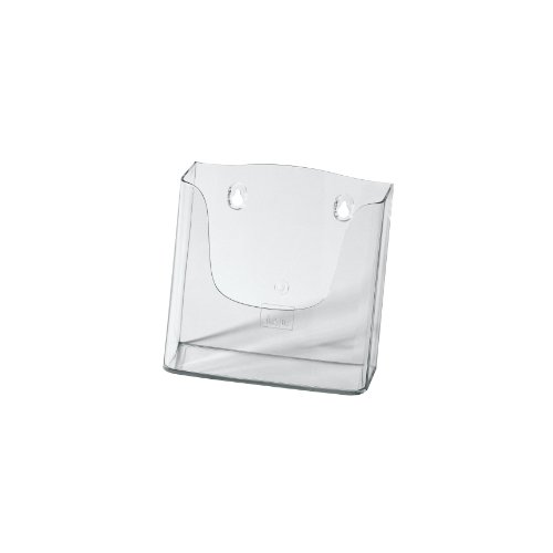 Sigel LH116 Wall-Mounted Literature Holder acrylic, with 1 compartment, clear, for A5 -