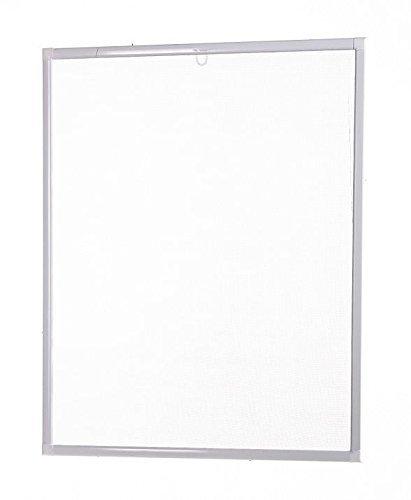 Insektenschutz Fliegengitter Fenster Basic Alurahmen weiß oder braun, 80 x 100 cm