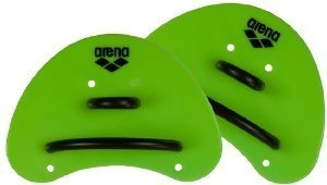 Arena Elite Finger Paddle, Acid Lime/Black