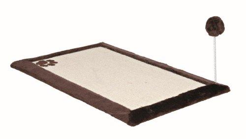 Trixie 4323 Kratzmatte mit Plüschrand 70 × 45 cm, dunkelbraun