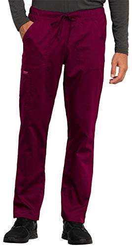 Cherokee WW Revolution WW020 Unisex Tapered Leg Drawstring Pant Wine M