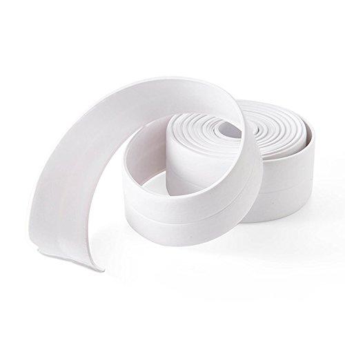"2 Pack White Tub and Wall Caulk Strip Bathtub Caulk Strip PVC Waterproof Self Adhesive Tub, Kitchen Caulk Tape and Bathroom Wall Sealing Tape Caulk Sealer,126""x1.5"""