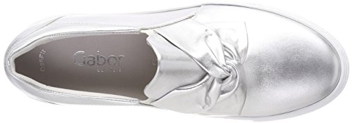 Comfort Silber weiss Donna Stringate Gabor Scarpe S Multicolore Derby Basic dq6dgC