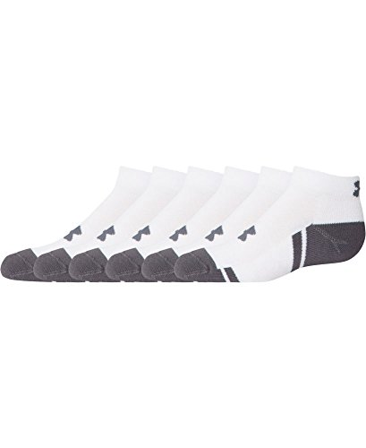 UPC 783466288525, Under Armour Boys Resistor III Lo Cut Socks (6 Pairs), Youth Large, White/Graphite, Youth Large