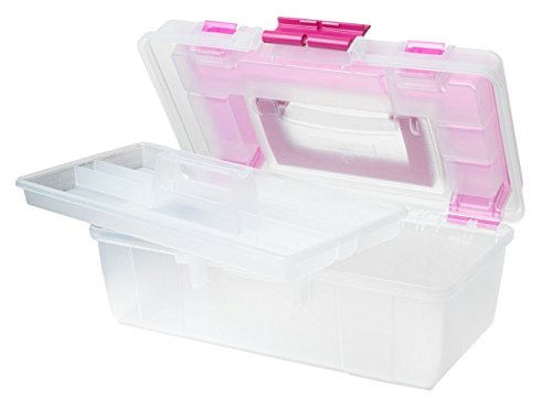 Creative Options 114-082 Molded Storage Craft Box with Lift-Out Tray, 13-inch