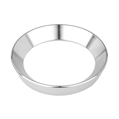 54mm Espresso Dosing Funnel, Stainless Steel Espresso Dosing Ring Coffee Funnel Compatible with 54mm Breville Portafilter