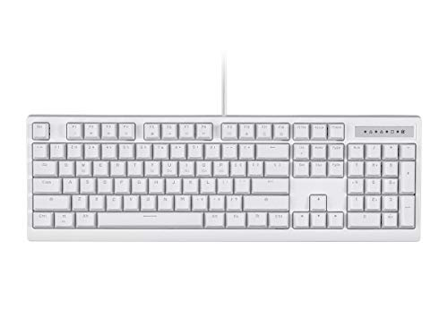 Monoprice Brown Switch Full Size Mechanical Keyboard - White | Ideal for Office Desks, Workstations, Tables - Workstream Collection (Best Full Size Mechanical Keyboard)
