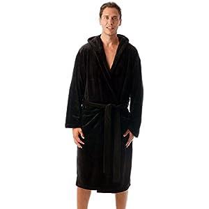 Ultra Soft Velour Robe Men Hood