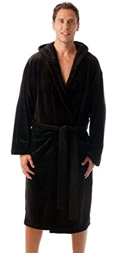 #followme Ultra Soft Velour Robe Robes Men 46904-BLK-L by #followme