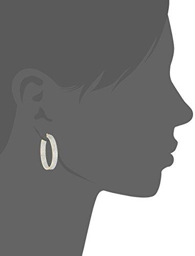 Two-Tone-Diamond-Accent-Oval-InsideOut-Hoop-Earrings