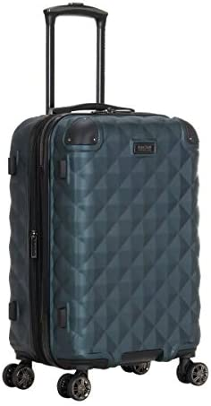 Kenneth Cole Reaction Diamond Tower Collection Lightweight Hardside Expandable 8-Wheel Spinner Travel Luggage, Emerald, 20-Inch Carry On