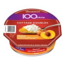 Breakstone Peach Cottage Double Cheese, 3.9 Ounce -- 12 per case.