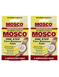 Mosco One-Step Medicated Corn Remover Pads | Maximum Strength | 8-Count per Pack | 2-Pack (Best Treatment For Corn On Foot)