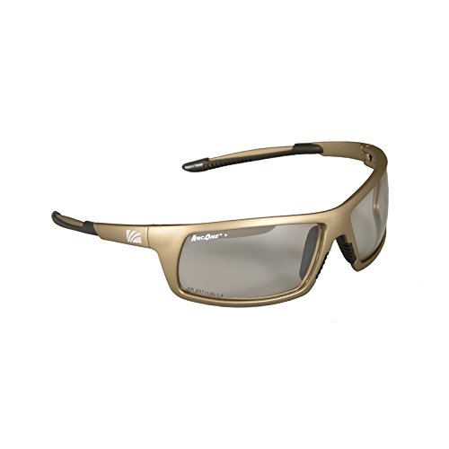 ArcOne SE-8002-10 Safety Eyewear/Protective Glasses, Indoor/Outdoor Lens and Mirror Finish with Bronze Frame (10-Pack) by ArcOne
